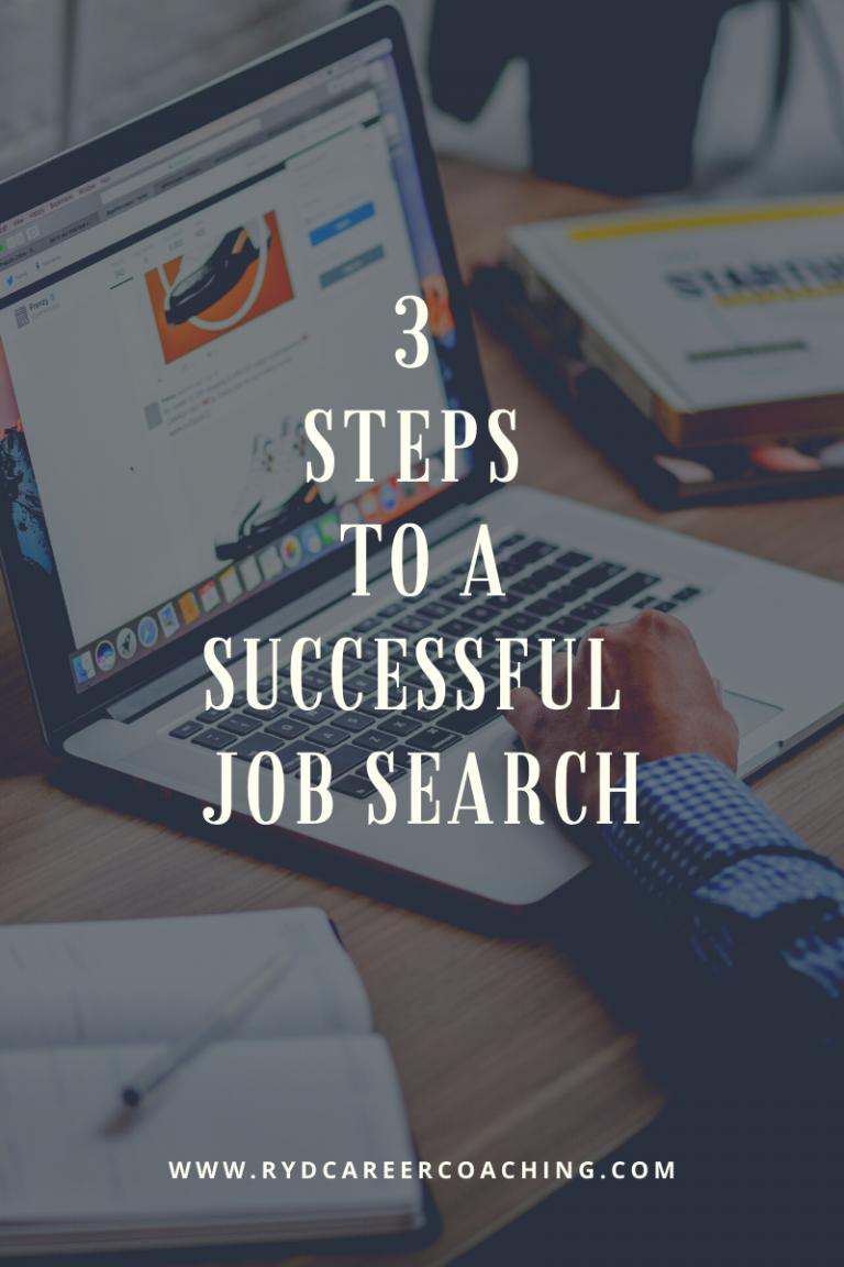 Three Steps to a Successful Job Search