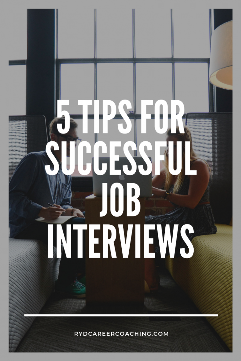 5 Tips for Successful Job Interviews